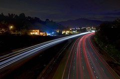 Diablo's Freeway (Matt Granz Photography) Tags: california motion cars night dark headlights motionblur freeway streams walnutcreek concord taillights lightstreams longexosure