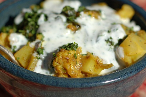 Curried Cauliflower With Spinach & Ginger
