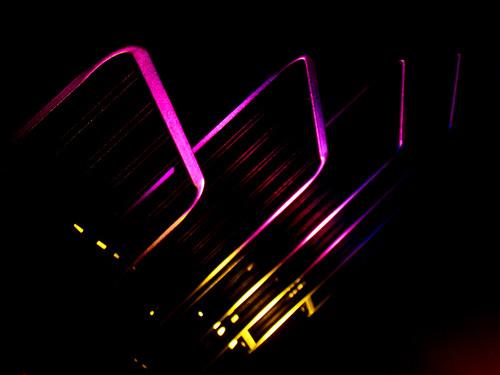 neon rectangles