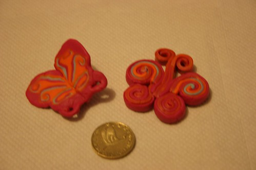 polymer clay butterfly experiment