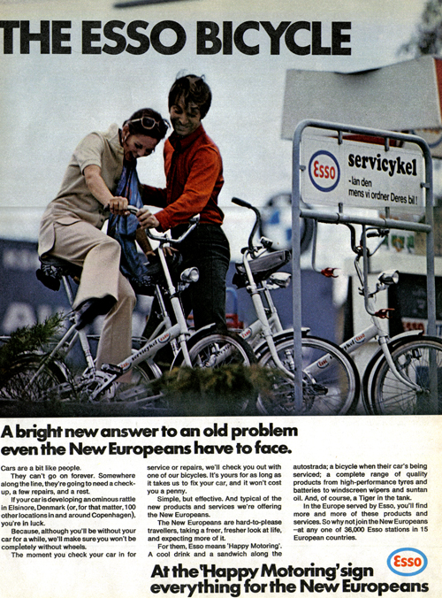 Vintage Ad #784: The Esso Bicycle