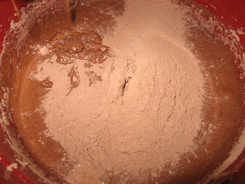 Gradually add to the batter until blended