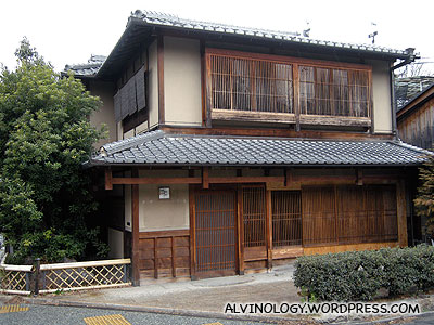 There were also lots of old houses like this in Kyoto