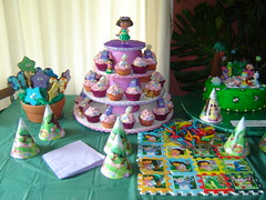 dora party table (The Whole Cake and Caboodle ( lisa )) Tags: newzealand party cakes cookies cake stars cupcakes picnic cookie boots butterflies dora cupcake isa tico whangarei swiper doratheexplorer bootsthemonkey caboodle explorerstars isatheiguana thewholecakeandcaboodle