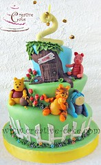 Whimsical topsy turvy Pooh & Friends (creativecake) Tags: birthday cake pooh whimsical topsyturvy