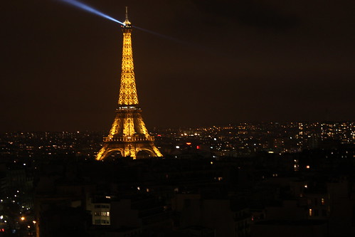 Eiffel Tower as seen from Arc de Triomphe