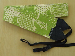 custom camera strap - anna maria horner's filigree