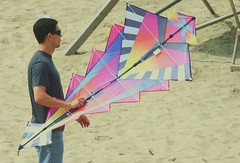 Colorful kite with a great design (buffntuff28) Tags: shirtless kite beach pecs flying arms muscle muscular chest models hunk surfing buff volleyball flex biceps humpy hotmen hotstuds musclemen day national kite flying humpyhunk