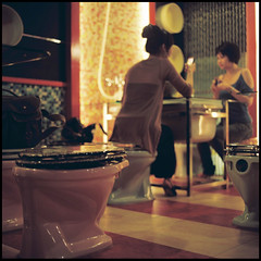 Bon Appetite (zyryntyrah) Tags: 120 6x6 film ceramic restaurant kodak taiwan toilet bowl hasselblad medium format taipei themed portra marton gaye carlzeiss hasselblad500cm 160nc planar80mmf28 sirintira zyryntyrah