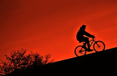 The Climb (Eric Austria) Tags: sunset bike dusk bicycles biking theclimb uphillclimb nikond80 mileycyrus ericaustria sillohouettes