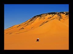 (818) Meditate in the desert Sahara (unicorn 81) Tags: voyage africa travel color sahara nature trekking landscape dessert sand colorful desert northafrica natur egypt adventure egyptian egipto weite 2009 ägypten egitto excursion egypte wüste reise egypten rundreise roundtrip egipt égypte mapegypt blackdesert misr nordafrika egypttrip april2009 ægypten deserttour aegyptus libyschewüste αίγυπτοσ ægyptusintertravel ägyptenreise schulzaktivreisen wüstenreise meinjahr2009
