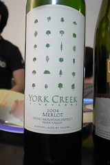 2004 York Creek Vineyards Spring Mountain District Merlot