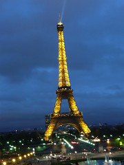 Eiffel tower colourful lights 527