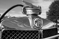MG PA Midget grille badge (William 74) Tags: classiccar mg chrome radiator racingcar grillebadge mgpa