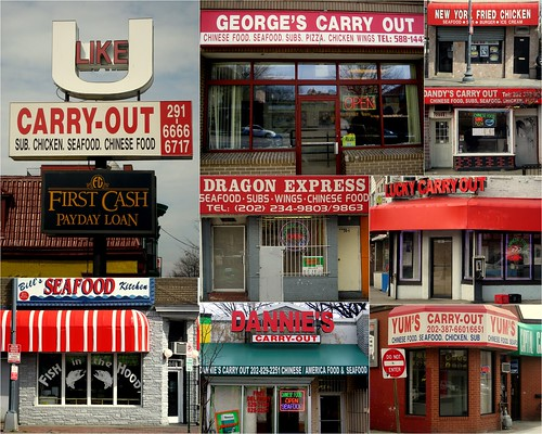 """Carry-outs of DC"" collage"