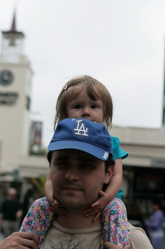 The Nuni and her father, Los Angeles, ca. 2009