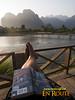 By the river at Vang Vieng