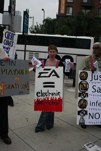 EA Dante's Inferno Protest