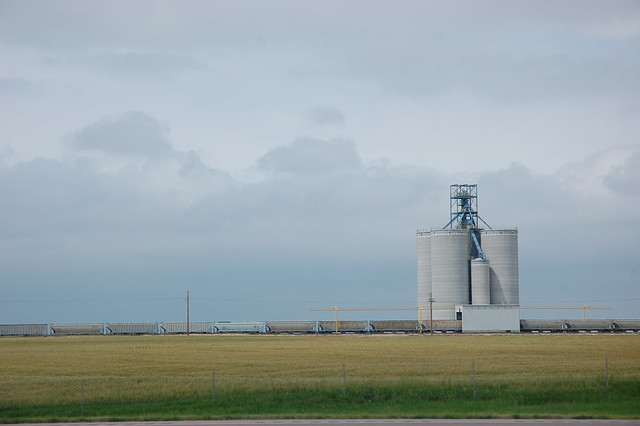 Grain silo in Kansas