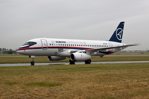 Sukhoi Superjet 100 at Paris Le Bourget