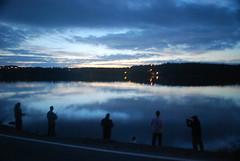 Roadside fishing (visual guy) Tags: road blue light sunset lake canada reflection newfoundland fishing nikon dusk