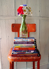 books and flowers (mayalu) Tags: art craft books orangechair raffle luckyme craftside maryaaron