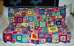 The Finished Squares Blanket