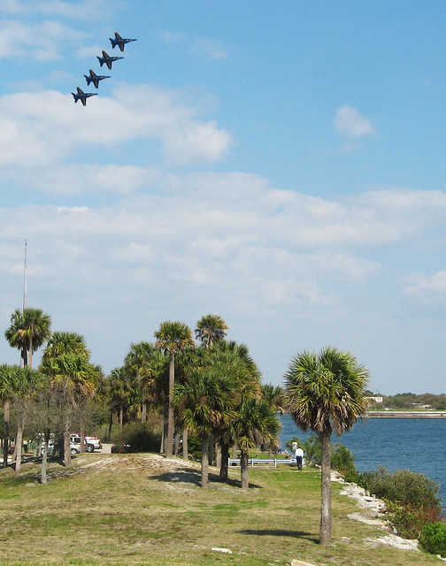 Blue Angels Practice Above Tampa