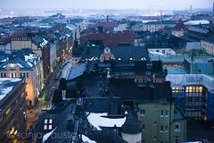 Birds eye-view from Sukos Torni Hotel, Helsinki, Finland (sanjayausta) Tags: street cold architecture buildings finland photography helsinki europe country countries photographs finnish scandinavia col scandinavian sanjay austa