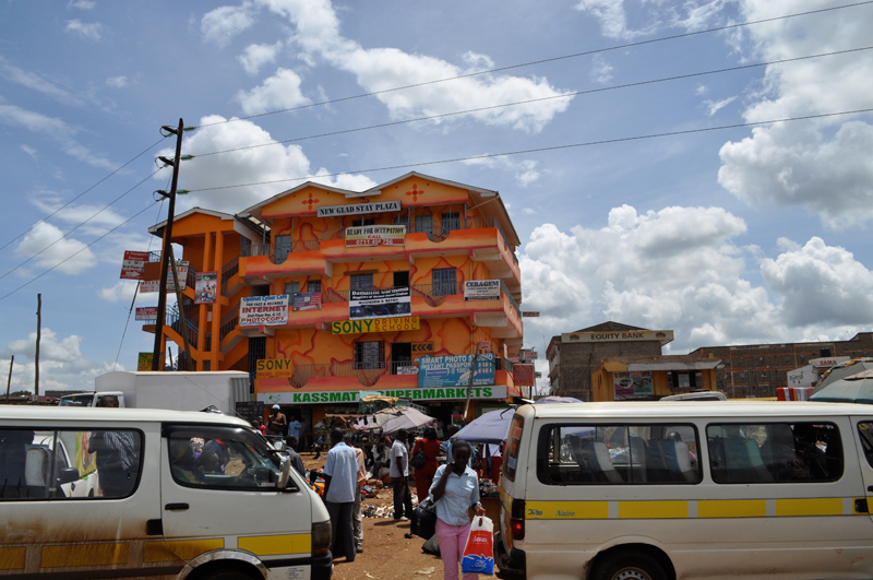Bright-Orange-Building outside Nairobi