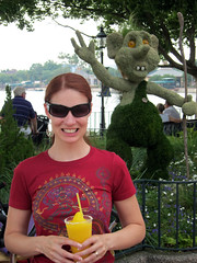 tammy with troll topiary at epcot