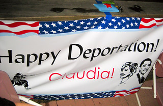 Happy Deportation! Claudia!