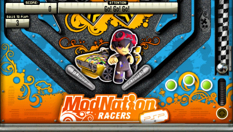 Pinball Heroes Bundle 2 for PSP: ModNation Racers table