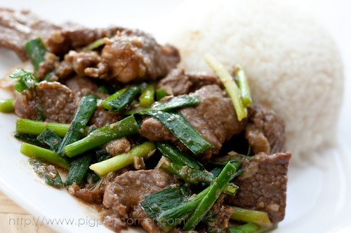 shacha beef and garlic chives