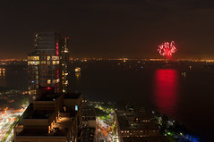 The Harbor Friday Night (Jay Fine) Tags: nyc newyorkcity water fireworks statueofliberty batteryparkcity lowermanhattan