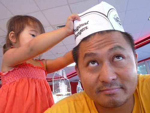steak n shake hat.