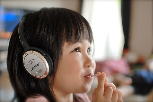 enjoy listening to music w/candy