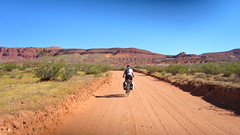 Utah Tour Day 6 (Doug Goodenough) Tags: bicycle bike cycle ride gravel dirt pavement utah cliffs route utahcliffsroute adventure cycling southwest 2011 11 may june touring tour doug goodenough douggoodenough jen scott steve will drg53111p drg53111putah drg53111putah6 desert saint george hurricane drg531