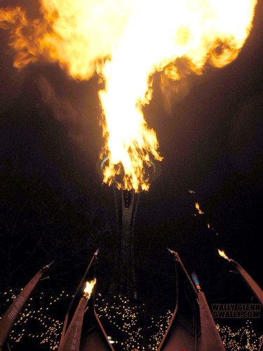 Seattle Space Needle on fire
