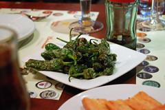 Pimientos de Padrn (su-lin) Tags: barcelona food restaurant tapas catalana cerveseria