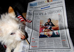 Trixie reads the AJC