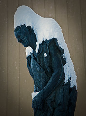 Snow Alien (Svein Skjåk Nordrum) Tags: winter sculpture snow statue lillehammer 5dmarkii tårnpetter