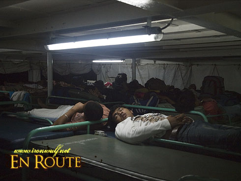 Ferry to Tawi-tawi sleep