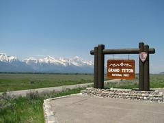 Grand Teton National Park (Redbeard Math Pirate) Tags: mountain signs mountains sign grandteton grandtetonnationalpark