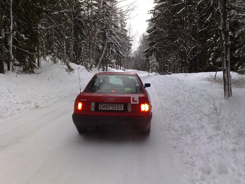 Car driving lessons in snowy Norway #2