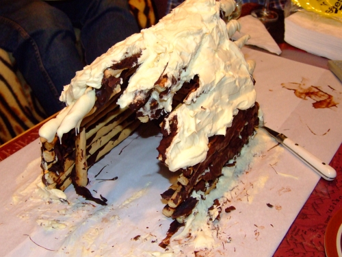 chocolate log cabin 42