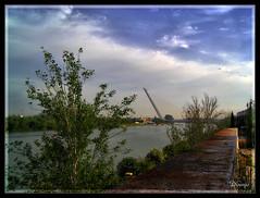 Puente del Alamillo (Doenjo) Tags: espaa geotagged sevilla andaluca puentes hdr pentaxoptio33l doenjo lmdd