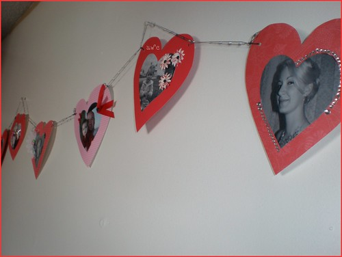 Homemade Valentine Garland