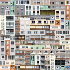 Patchwork (Alain Pr) Tags: abstract building facade topf50 topc50 pre patchwork alp immeuble abstraite altrafotografia faade dwwg