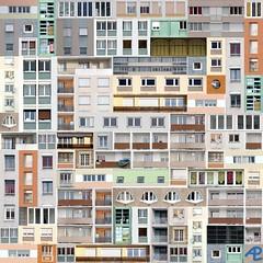 Patchwork (Alain Pr) Tags: abstract building facade topf50 topc50 pre patchwork alp immeuble abstraite altrafotografia faade dwwg